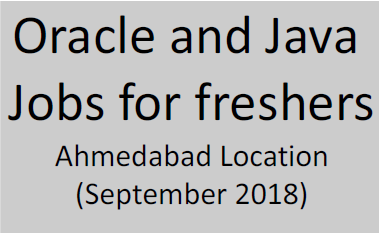Oracle Java freshers jobs Ahmedabad