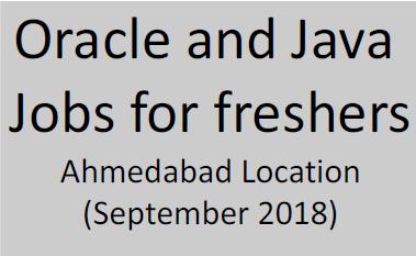 Oracle Java freshers jobs Ahmedabad